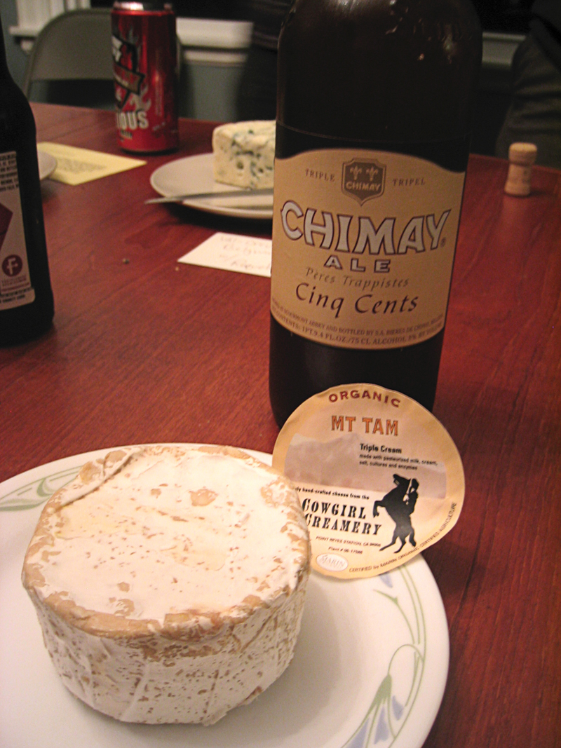Chimay Red (Belgian Tripel) with Mt. Tam Triple Cream