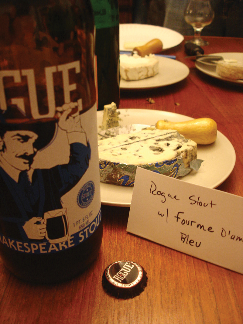 Rogue Shakespeare Stout with Fourme D'Ambert Bleu