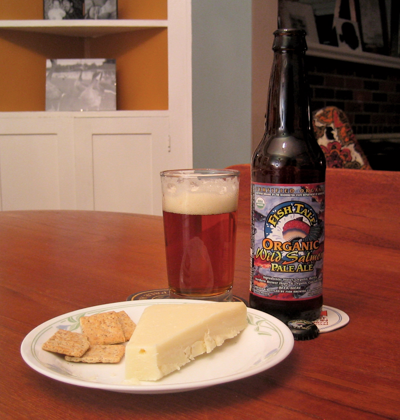 FishTale Organic Pale Ale with Aged Provolone
