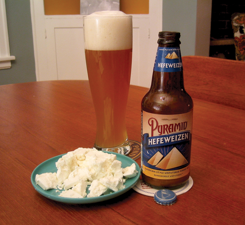 Pyramid Hefeweizen and Sheeps Milk Feta