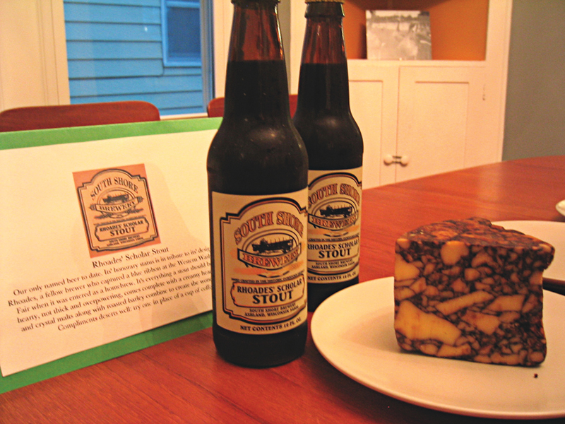 South Shore Stout and Cahill's Irish POrter Cheddar